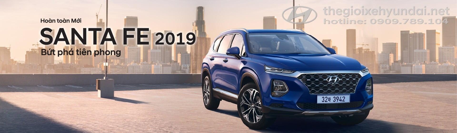 Banner Xe Hyundai Santafe 2019